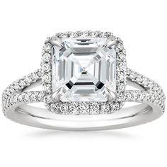 Platinum Fortuna Diamond Ring, top view