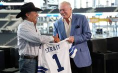 The legend George Strait looks great in a Cowboys jersey. Strait's final show of his two-year The Cowboy Rides Away tour, which brought 104,000 fans to AT&T Stadium.