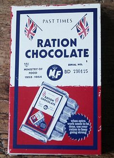 even my chocolate is on ration #vintagelover #vintagestyle #vintagefashion #vintagehome #vintageliving #vintagelife