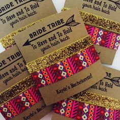 Bachelorette Hair Tie Party Favors // Bride Tribe // To Have And To Ho – Elastic Hair Bandz