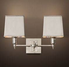 Master Bath Lighting Claridge Double Sconce With Metal Shade
