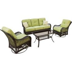 4-Piece Olivia Wicker Seating Group in Chocolate