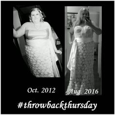 Throwback Thursday! Normally I just look back a year because that's when I really felt like I started this journey, but when I see this I wonder if it started before that...same dress, just have a corset over the top in the second picture to keep the dress up lol... #throwbackthursday #throwback #beforeandafter #beforeandafterweightloss #fitness #health #gettingfit #fitgirl #fitgirlinprogress #workinprogress #igfitfam #wedding #dress #food #diet #nutritions #movati #thestruggleisreal…