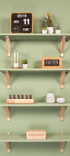 Alarmklok  Cathode - bamboe - Karlsson