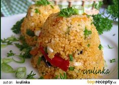 Kuskus se sýrem cottage a zeleninou recept - TopRecepty. Fried Rice, Baked Potato, A Table, A Food, Fries, Potatoes, Cottage, Baking, Ethnic Recipes