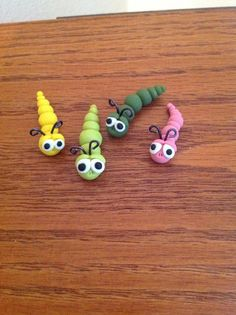 Miniature Garden Worms by Whimsybydesign1 on Etsy, $3.75