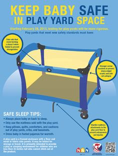 Is Your Play Yard Safe? Check Out These New Rules. Keep baby safe!
