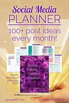 Your Social Media Planner has everything you need to plan for success! Attracting leads for your small business is easy with the content marketing ideas and social media tips in this printable PDF. Click to website to purchase!