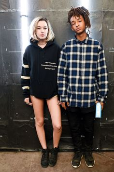 The best in street style from Coachella Sarah Snyder and Jaden Smith at the Calvin Klein party. Fashion News, Boho Fashion, High Fashion, Mens Fashion, Fashion Photo, Style Fashion, Jaden Smith Sarah Snyder, Sara Snyder, Urban Outfits