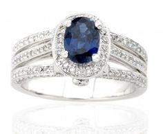bague diamant saphir