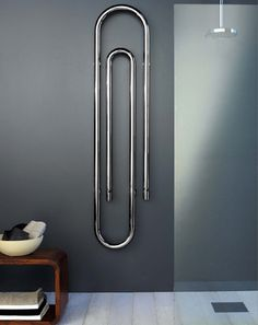 Beautiful contemporary towel radiators in the latest Italian styling making ideal design features to luxury bathroom design. Chrome Towel Rail, Towel Radiator, Original Design, Bathroom Design Luxury, Central Heating, Heating Systems, Paper Clip, Minimal Fashion, Radiators
