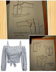 Best 12 How to make off-shoulder bodice patterns Pattern Drafting Tutorials, Skirt Patterns Sewing, Blouse Patterns, Clothing Patterns, Pattern Making Books, Bodice Pattern, Sewing Blouses, Fashion Sewing, Sewing Techniques