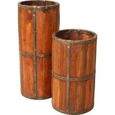 Timbergirl Rustic Wood Umbrella Stand & Reviews | Wayfair