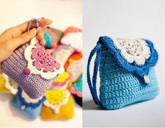 Tecendo Artes em Crochet: Bolsinha Fofucha com os Gráficos!