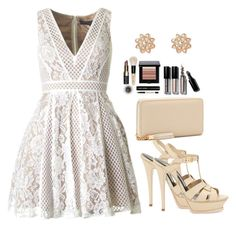 just the white lace<3 by siamel on Polyvore featuring Yves Saint Laurent, River Island, Bobbi Brown Cosmetics and romantic