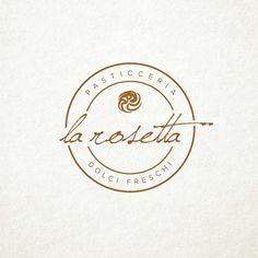 Vintage logo concept for bakery Cafe Logo, Logo Café, Script Logo, Baking Logo Design, Cake Logo Design, Bakery Design, Sweet Logo, Logos Vintage, Vintage Logo Design