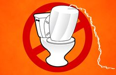 Time to Accept Reality and Stop Flushing Tampons Down the Toilet --- AND buy a menstrual cup! #putacupinit