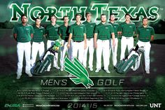 North Texas Men's Golf Poster (2015)