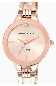 Anne Klein Diamond Marker Bangle Watch, 30mm | Nordstrom
