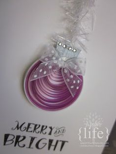 ~ a paper {life}: Merry and Bright quilled christmas cards