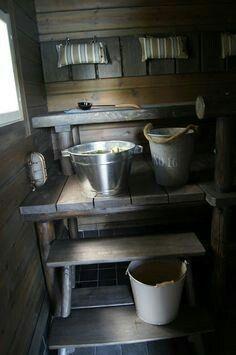 Laundry Room Bathroom, Bathroom Spa, Bathroom Interior, Rustic Bathroom Decor, Rustic Decor, Outdoor Sauna, Finnish Sauna, Nautical Bedroom, Sauna Room