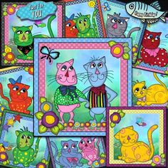 - Raggy Cats 15 sheet Bumper Kit, Raggy Cats 15 Sheet Bumper Kit here by requests, this cute humorous kit of ten card fr. Kit, Cards, Design, Paper, Maps, Playing Cards