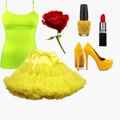 Is Belle your favorite #Disney princess? Take a look at this stylish idea for a Belle #Halloween costume. http://wishi.me/Halloween