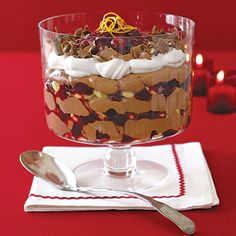Cranberry and Chocolate Trifle | Learn how to make Cranberry and Chocolate Trifle. MyRecipes has 70,000+ tested recipes and videos to help you be a better cook