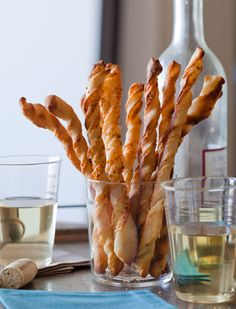 Parmesan and Garlic Cheese Straws