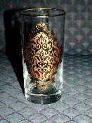 Libbey Eames Era 4 Gold Encrusted Weighted Base Tumblers