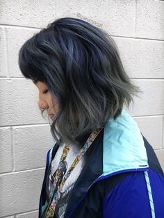 midnight blue 💙 to grey