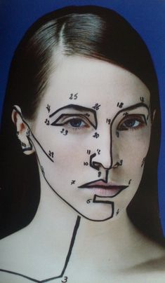 paint by numbers - makeup edition