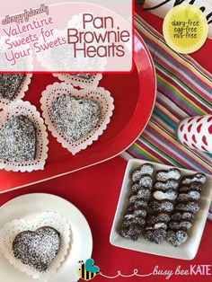 Busy Bee Kate - allergy-friendly Valentine Sweets for Your Sweets - Pan Brownie Hearts ❤️