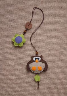 Big owl felt bookmark by suyika on Etsy