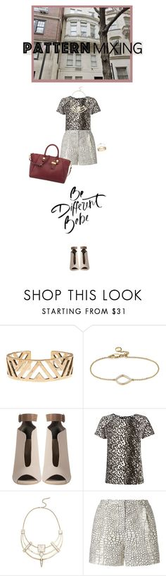 """""""Pattern Mixing"""" by fashionbrownies ❤ liked on Polyvore featuring Lucky Brand, Monica Vinader, Therapy, Alexis Bittar and Nine West"""