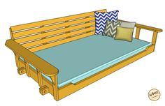 Build a Porch Bed Swing: Plans and Video How-To - Wood. It's Real.   Wood. It's Real.