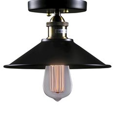 Warehouse Of Tiffany 9 X 9 X 7 Inch Black Ceiling Lights : Target