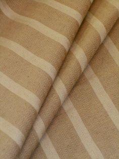 Herringbone Stripe Color Sand Natural Home Decor Fabric Premium High End Linen Cotton Multipurpose