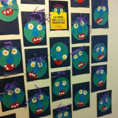 Go Away Big Green Monster! My class did this in October & LOVED it! -HW Preschool Literacy, Kindergarten Fun, Monster Bulletin Boards, Big Green Monster, Pre K Activities, Green Monsters, Emotion, Halloween Projects, School Days