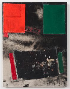 FOLLOWING COLLAGE LOVES  MIRELLA BRUNOSterling Ruby BC (3637)/ Collage, paint, bleach, glue, fabric on wood 2011.