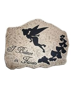 Take a look at this Tinker Bell 'I Believe in Fairies' Stepping Stone by DIG on #zulily today!
