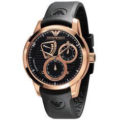 Emporio Armani Urban Pilot Cognac Mens Wrist Watch AR4619 | RnBJewellery