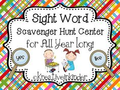 Sight Word Scavenger Hunt FREEBIE!