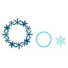 Sizzix Framelits Die Set 3PK - Frame, Snowflake $19.99