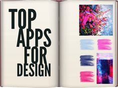 Top Art Apps for Design. Creating mood boards, palettes, vectors, mockups, typography and apps. #standout #design @Melissa Squires Squires Morgan Onward