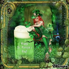 Happy St patricks day - lady leprechaun Picture #107924205 | Blingee.com