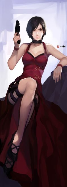 Ada Wong from 'Resident Evil Video Game Characters, Girls Characters, Female Characters, Jill Valentine, Cyberpunk, Manga Anime, Pinup, Character Inspiration, Character Design