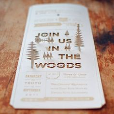 Really beautifully designed wedding invitations. Quite intense, using laser cutting, stamping, sewing, and generally just beautiful design.