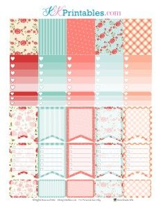 FREE Floral Planner Sticker Printable by KittiKPrints – ink&wink [ Free Membership Required ]
