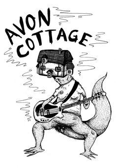 Illustration for our band, Avon Cottage.
